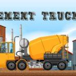 Objetos ocultos de camiones de cemento